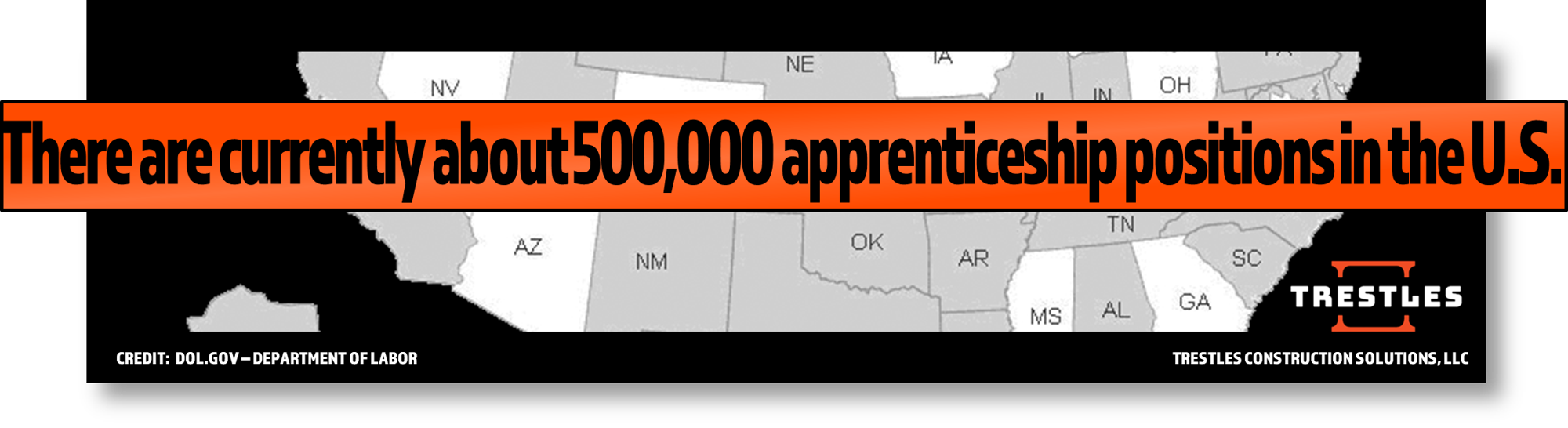 TRESTLES - There Are Approximately 500,000 Available Apprenticeships Across The USA, July 2017