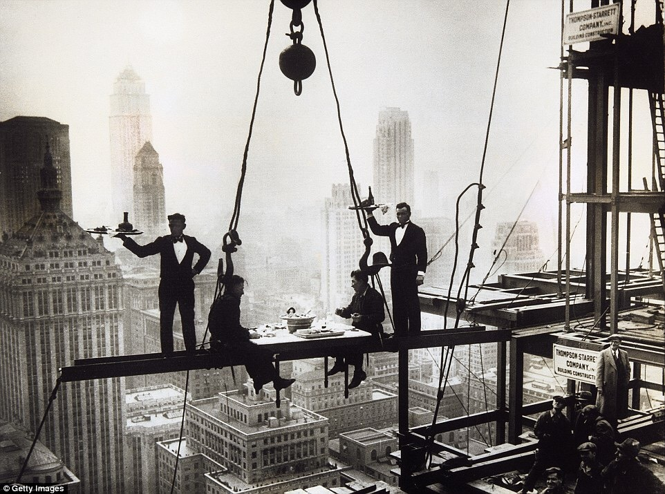 TRESTLES - DINNER WITH A VIEW ATOP THE WALDORF-ASTORIA UNDER CONSTRUCTION IN 1930